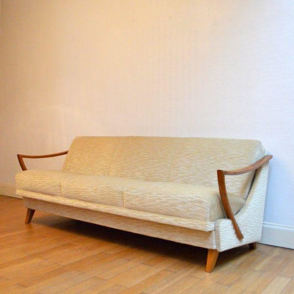 magnifique canap daybed ann es 50. Black Bedroom Furniture Sets. Home Design Ideas