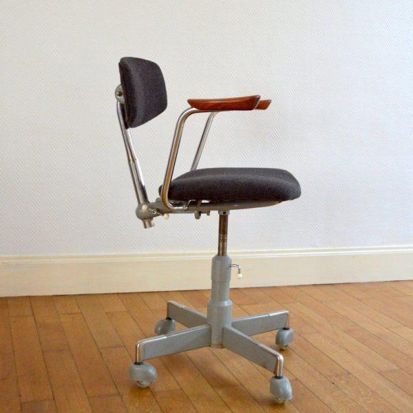 Chaise de bureau scandinave par Hag années 50