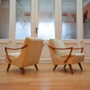 Paire de fauteuils années 50 : 60 vintage 18