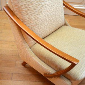 Paire de fauteuils années 50 : 60 vintage 26