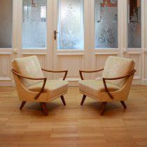 Paire de fauteuils années 50 : 60 vintage 3