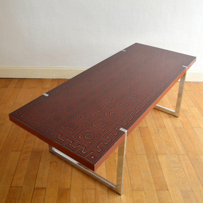 Grande table basse ann es 60 70 - Table basse 70 s ...