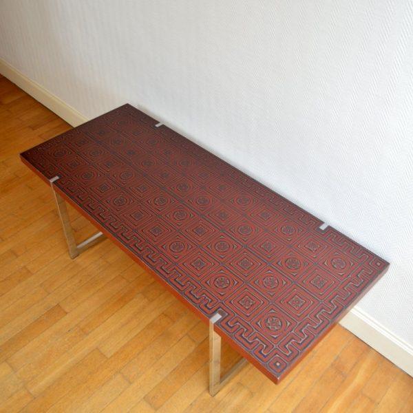 Grande table basse années 60 / 70