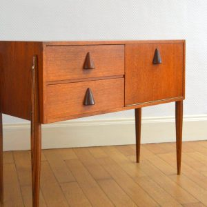petite commode scandinave teck 22