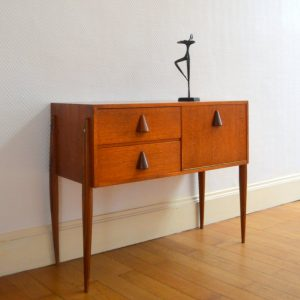 petite commode scandinave teck 6