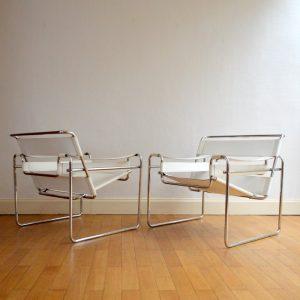 Paire de fauteuils Wassily Marcel BREUER – 1980 vintage 25
