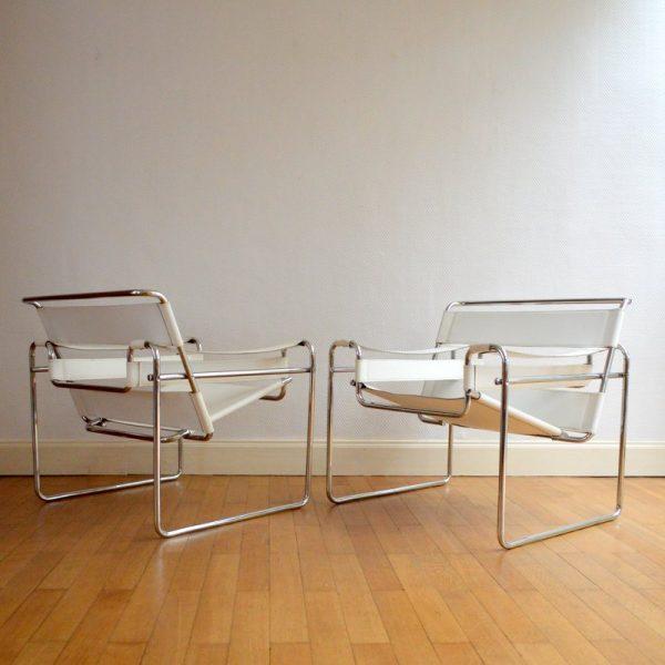 Paire de fauteuils «Wassily» Marcel BREUER – 1980