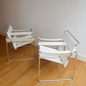 Paire de fauteuils Wassily Marcel BREUER – 1980 vintage 27
