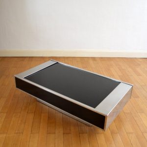 Table basse : Table bar Willy Rizzo 1970 vintage 34