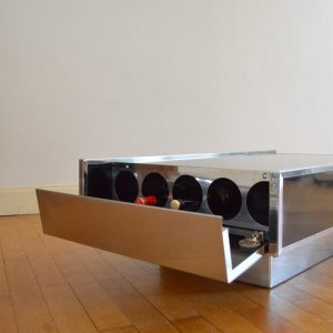 Table basse : Table bar Willy Rizzo 1970 vintage 4