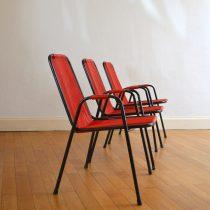 3 chaises scoubidous années 50 vintage 6