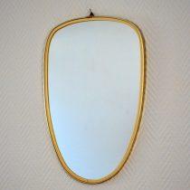 Miroir années 50 laiton vintage 18