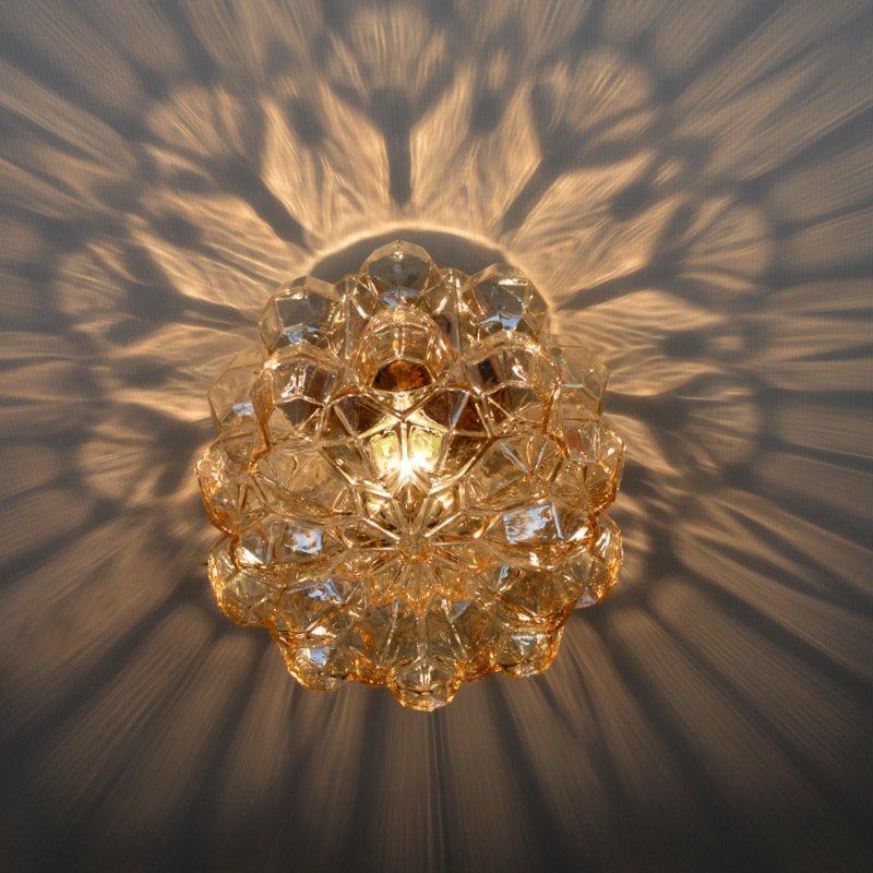 Plafonnier applique en verre par helena tynell pour glashütte limburg 1960 vintage 11