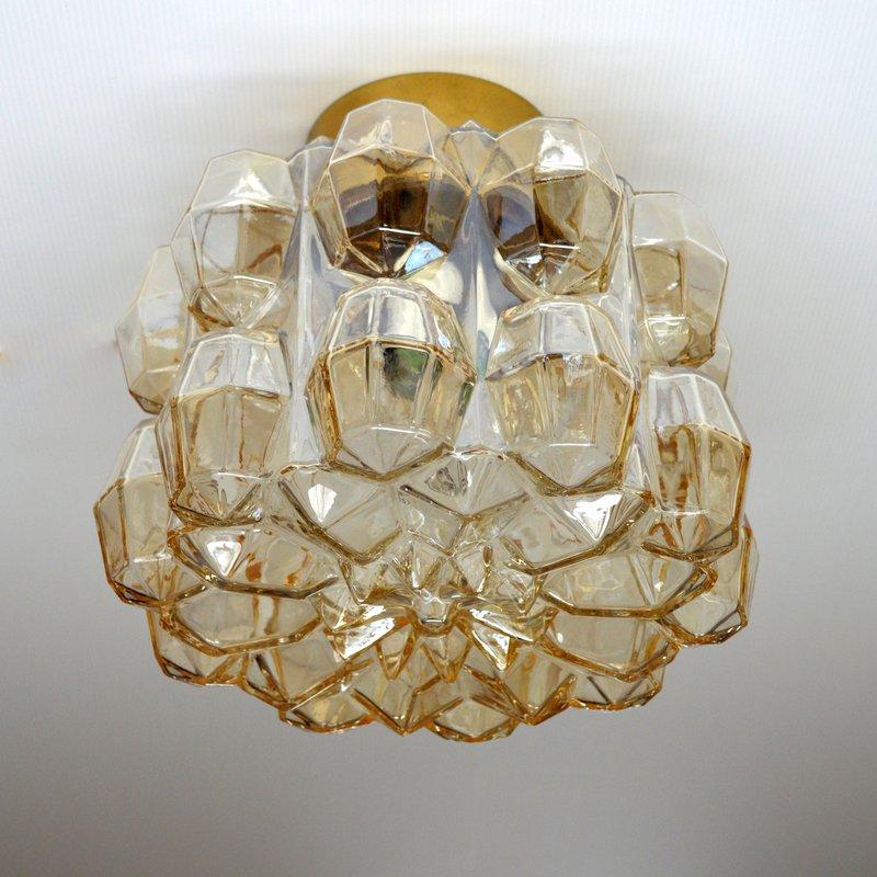plafonnier applique en verre par helena tynell pour glash tte limburg 1960. Black Bedroom Furniture Sets. Home Design Ideas
