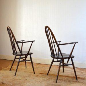 Paire de chaises Ercol vintage 14