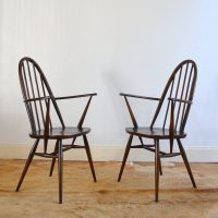 Paire de chaises à bras Ercol années 60