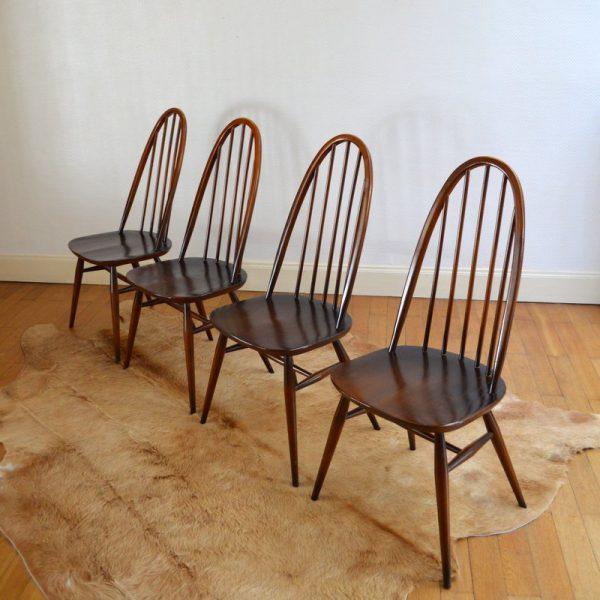 Suite de quatre chaises Ercol années 60