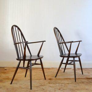 Paire de chaises Ercol vintage 7