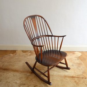 Rocking chair années 50 vintage 9