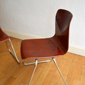 chaises Pagholz années 60 vintage 9