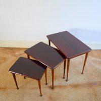 Tables gigognes palissandre années 60