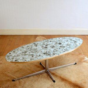 Table basse ovale années 60 vintage 30