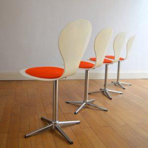 4 chaises Benze années 60 vintage 6