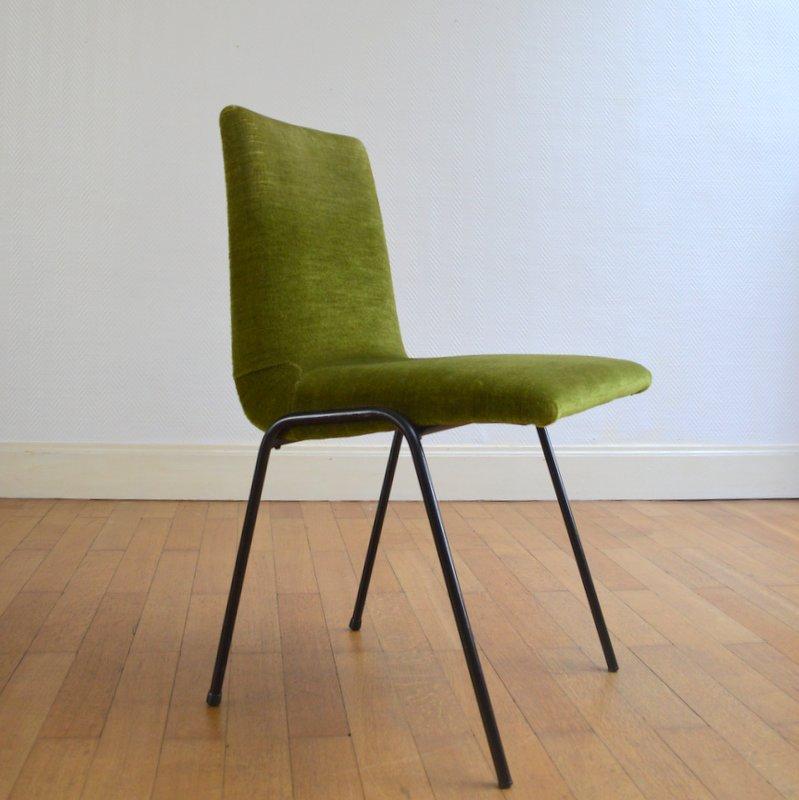 chaise par pierre guariche pour meurop 1950s. Black Bedroom Furniture Sets. Home Design Ideas