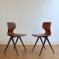 Deux chaises Pagholz 1960s