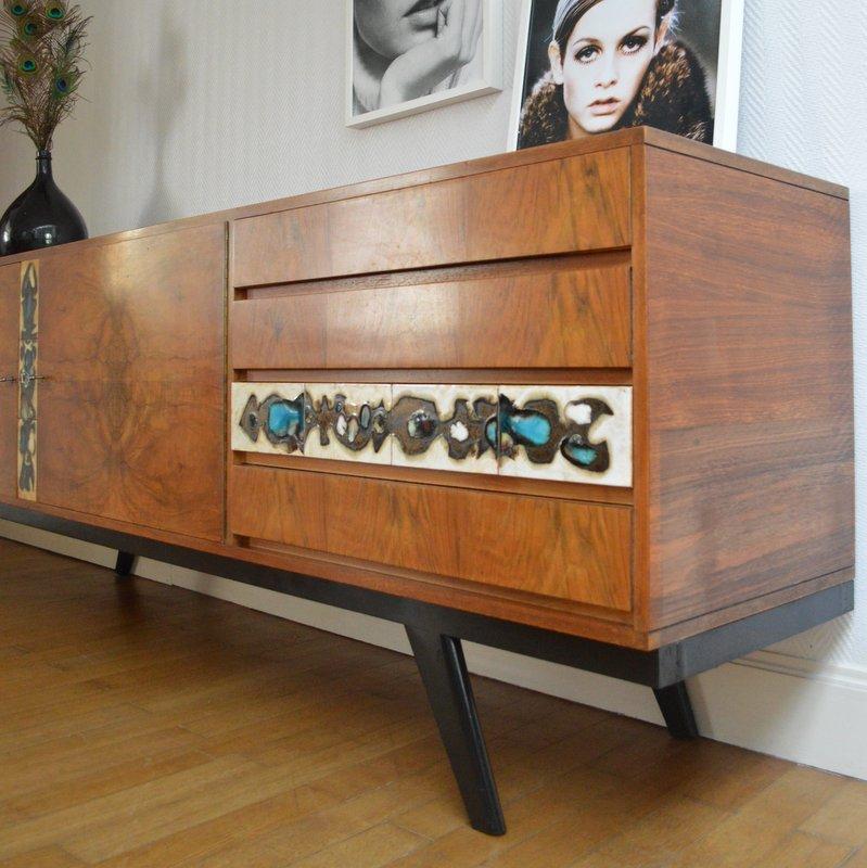 enfilade design ann es 60 avec c ramique. Black Bedroom Furniture Sets. Home Design Ideas