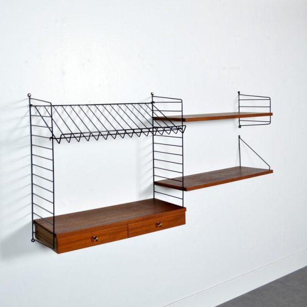 Système d'étagères String par Nisse Strinning 1960s