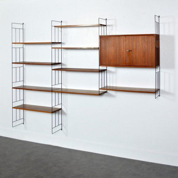 Étagères – Bibliothèque suspendu Design scandinave WHB 1960s