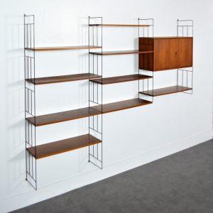 Bibliothèque modulable suspendu WHB 1960 vintage 9