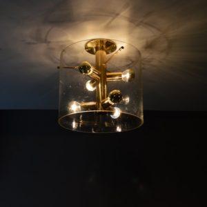 Lampe : Plafonnier sputnik Design par Doria 1960s vintage 18