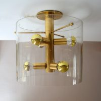 Lampe : Plafonnier sputnik Design par Doria 1960s vintage 4