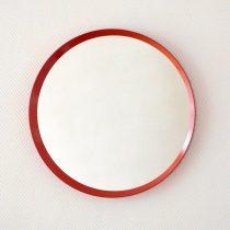 Miroir rond rouge 1970 vintage 6