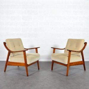 Paire de fauteuils années 60 Knoll vintage 1