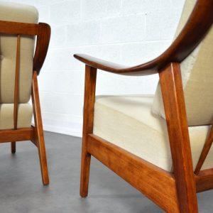 Paire de fauteuils années 60 Knoll vintage 18