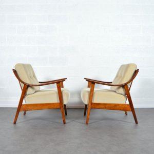 Paire de fauteuils années 60 Knoll vintage 21