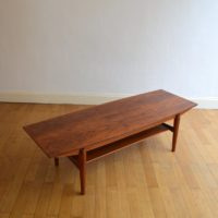 Table basse de salon scandinave palissandre 1960s