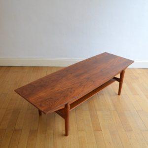 Table basse scandinave palissandre vintage 12