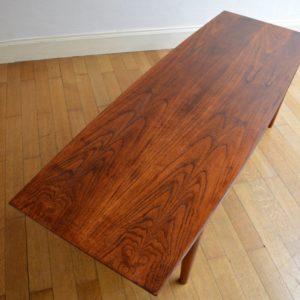 Table basse scandinave palissandre vintage 13