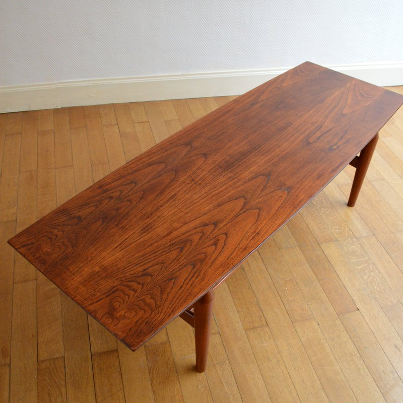 Table basse de salon scandinave palissandre 1960s for Table basse scandinave salon