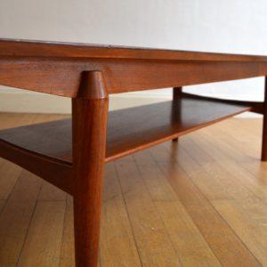 Table basse scandinave palissandre vintage 20