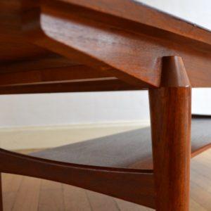 Table basse scandinave palissandre vintage 21