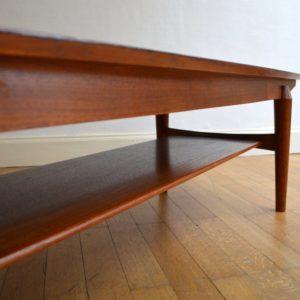 Table basse scandinave palissandre vintage 23