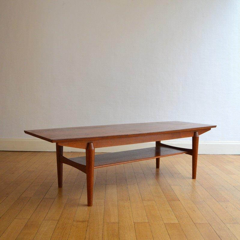 Table basse de salon scandinave palissandre 1960s - Table salon scandinave ...