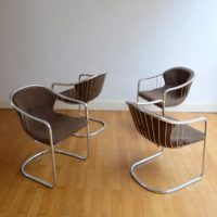 4 chaises chromé design années 60 : 70 vintage 16