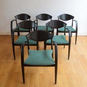 6 chaises design 1980 vintage 2