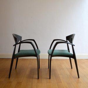 6 chaises design 1980 vintage 3